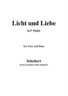 Licht und Liebe (Light and Love), D.352: F Maior by Franz Schubert