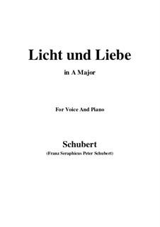 Licht und Liebe (Light and Love), D.352: A maior by Franz Schubert