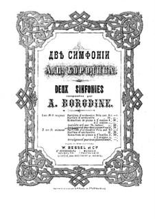 Symphony No.1 in E Flat Major: Versão para dois pianos de quatro mãos by Alexander Borodin