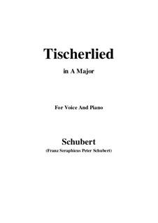Tischlerlied (Carpenter's Song), D.274: A maior by Franz Schubert