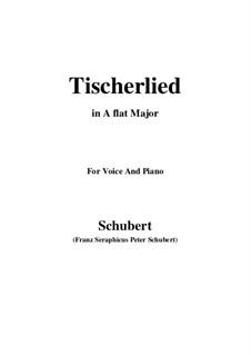 Tischlerlied (Carpenter's Song), D.274: A flat Major by Franz Schubert