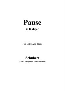 No.12 Pause (Interlude): For voice and piano (B Major) by Franz Schubert