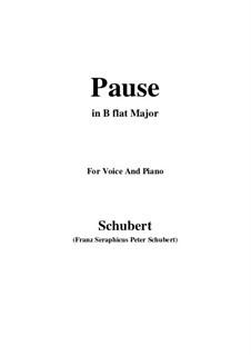 No.12 Pause (Interlude): para voz e piano em B flat Maior) by Franz Schubert
