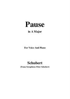 No.12 Pause (Interlude): para voz e piano ( A maior) by Franz Schubert