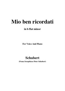 Mio ben ricordati: B flat minor by Franz Schubert