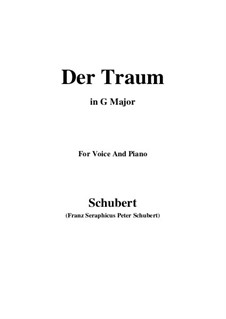 Der Traum (The Dream), D.213 Op.172 No.1: G maior by Franz Schubert