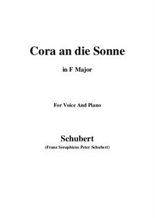 Cora an die Sonne, D.263: F Maior by Franz Schubert