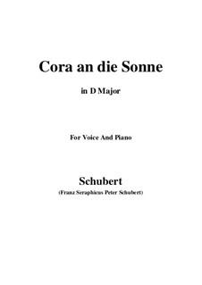 Cora an die Sonne, D.263: D maior by Franz Schubert