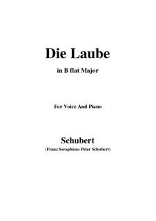 Die Laube (The Arbour), D.214 Op.172 No.2: B flat Maior by Franz Schubert