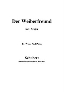 Der Weiberfreund (The Philanderer), D.271: G maior by Franz Schubert