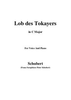 Lob des Tokayers (In Praise of Tokay), D.248: C maior by Franz Schubert