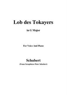 Lob des Tokayers (In Praise of Tokay), D.248: G maior by Franz Schubert
