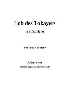 Lob des Tokayers (In Praise of Tokay), D.248: B flat Maior by Franz Schubert