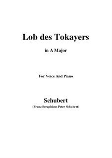 Lob des Tokayers (In Praise of Tokay), D.248: A maior by Franz Schubert