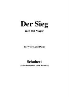 Der Sieg (The Victory), D.805: B flat Maior by Franz Schubert