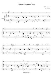 Teach Me Thy Way, O Lord: para Violoncelo e piano by Benjamin M. Ramsey