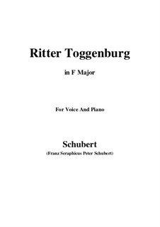 Ritter Toggenburg (The Knight of Toggenburg), D.397: F Maior by Franz Schubert
