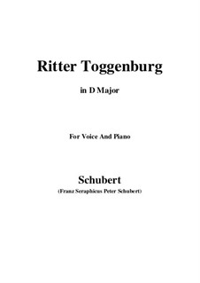 Ritter Toggenburg (The Knight of Toggenburg), D.397: D maior by Franz Schubert