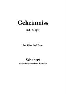 Geheimniss, D.491: G maior by Franz Schubert