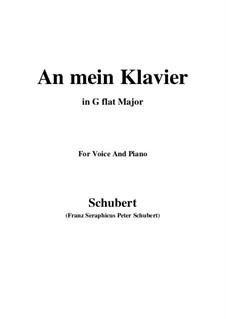 An mein Klavier (To My Piano), D.342: G flat Major by Franz Schubert