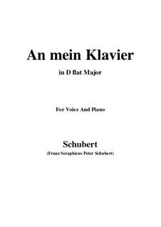 An mein Klavier (To My Piano), D.342: D flat Major by Franz Schubert