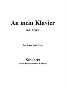 An mein Klavier (To My Piano), D.342: G maior by Franz Schubert