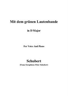 No.13 Mit dem grünen Lautenbande (With the Green Lute-Riband): D maior by Franz Schubert