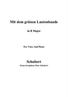 No.13 Mit dem grünen Lautenbande (With the Green Lute-Riband): B Major by Franz Schubert