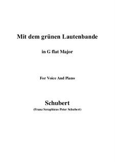No.13 Mit dem grünen Lautenbande (With the Green Lute-Riband): G flat Major by Franz Schubert