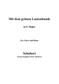 No.13 Mit dem grünen Lautenbande (With the Green Lute-Riband): G maior by Franz Schubert