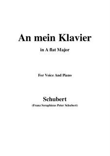 An mein Klavier (To My Piano), D.342: A flat Major by Franz Schubert