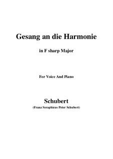 An die Harmonie, D.394: F sharp Major by Franz Schubert
