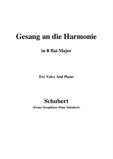 An die Harmonie, D.394: B flat Maior by Franz Schubert