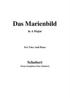 Das Marienbild (Picture of the Virgin Mary), D.623: A maior by Franz Schubert