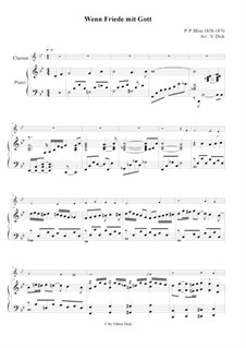 When Peace Like a River: para clarinete e piano by Philip Paul Bliss