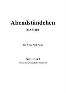 Abendständchen. An Lina (Evening Serenade. To Lina), D.265: A maior by Franz Schubert