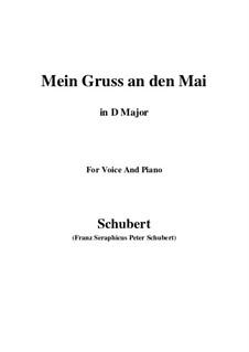 Mein Gruss an den Mai (My Greeting to May), D.305: D maior by Franz Schubert