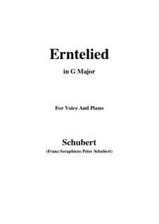 Erntelied (Harvest Song), D.434: G maior by Franz Schubert
