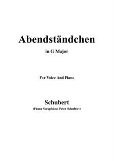 Abendständchen. An Lina (Evening Serenade. To Lina), D.265: G maior by Franz Schubert