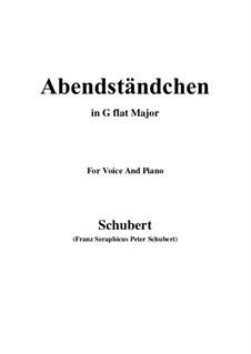 Abendständchen. An Lina (Evening Serenade. To Lina), D.265: G flat Major by Franz Schubert