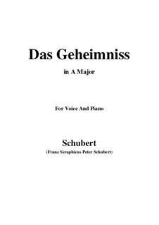 Das Geheimnis (The Secret), D.793 Op.173 No.2: A maior by Franz Schubert