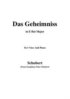 Das Geheimnis (The Secret), D.793 Op.173 No.2: E flat maior by Franz Schubert