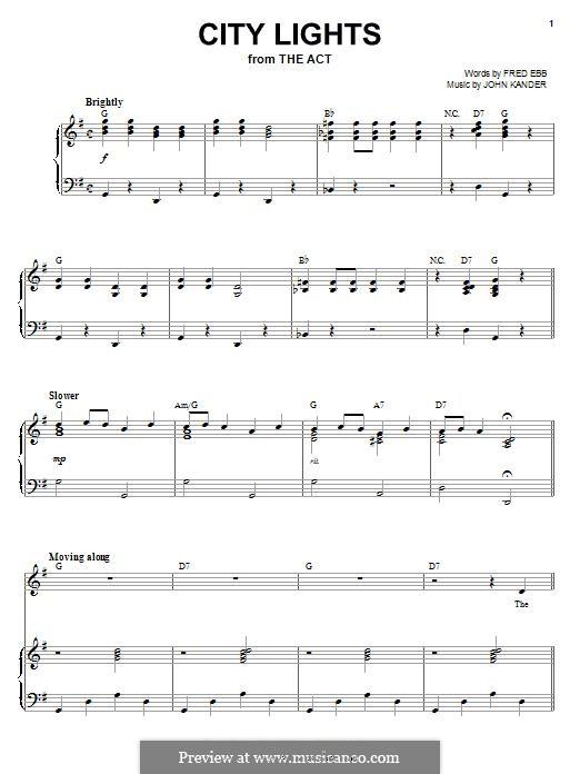 City Lights: Para vocais e piano by John Kander
