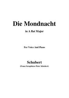 Die Mondnacht (The Moonlit Night), D.238: A flat Major by Franz Schubert