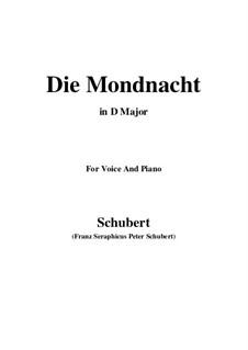 Die Mondnacht (The Moonlit Night), D.238: D maior by Franz Schubert