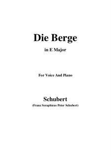 Die Berge (The Mountains), D.634 Op.57 No.2: E Major by Franz Schubert