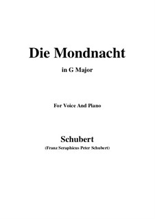 Die Mondnacht (The Moonlit Night), D.238: G maior by Franz Schubert