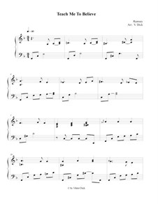 Teach Me Thy Way, O Lord: Para Piano by Benjamin M. Ramsey