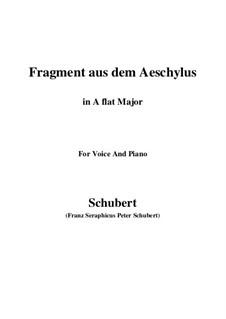 Fragment from Aeschylus, D.450: A flat Major by Franz Schubert