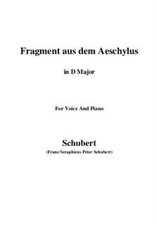Fragment from Aeschylus, D.450: D maior by Franz Schubert